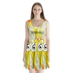Crane Split Back Mini Dress