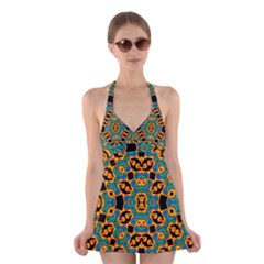 Gongo Halter Swimsuit Dress