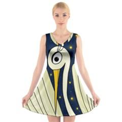 Crane 2 V-Neck Sleeveless Skater Dress