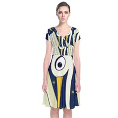 Crane 2 Short Sleeve Front Wrap Dress