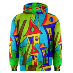 Two houses  Men s Pullover Hoodie