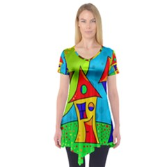 Two houses  Short Sleeve Tunic