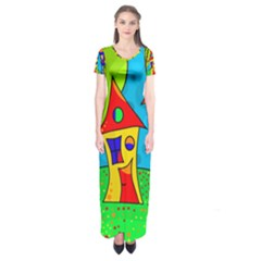 Two houses  Short Sleeve Maxi Dress