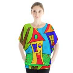 Two houses  Blouse