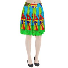 Two houses  Pleated Skirt