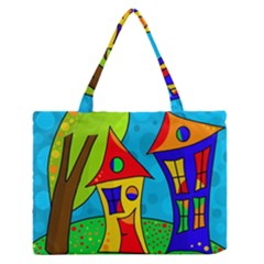 Two houses  Medium Zipper Tote Bag