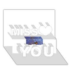 19 171243210 0 2 3 Miss You 3d Greeting Card (7x5)