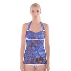 19 171243210 0 2 3 Boyleg Halter Swimsuit