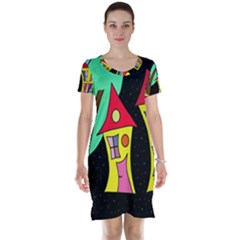 Two houses 2 Short Sleeve Nightdress