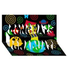 Playful universe Congrats Graduate 3D Greeting Card (8x4)
