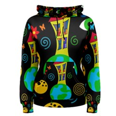 Playful universe Women s Pullover Hoodie