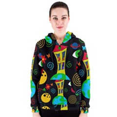 Playful universe Women s Zipper Hoodie