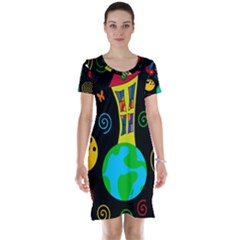 Playful universe Short Sleeve Nightdress