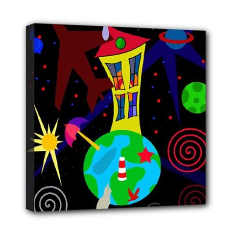 Colorful universe Mini Canvas 8  x 8