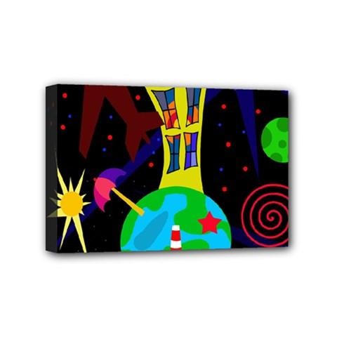 Colorful universe Mini Canvas 6  x 4