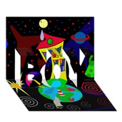 Colorful universe BOY 3D Greeting Card (7x5)