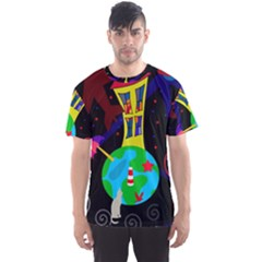 Colorful universe Men s Sport Mesh Tee