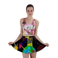 Colorful universe Mini Skirt