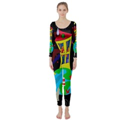 Colorful universe Long Sleeve Catsuit
