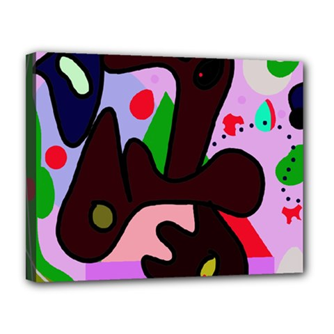 Decorative abstraction Canvas 14  x 11