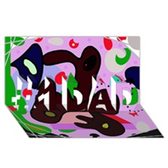 Decorative abstraction #1 DAD 3D Greeting Card (8x4)