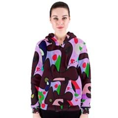 Decorative abstraction Women s Zipper Hoodie