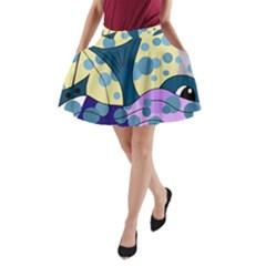 Whale A-Line Pocket Skirt