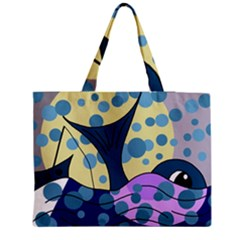 Whale Medium Zipper Tote Bag