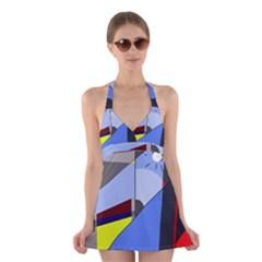 Street Light Halter Swimsuit Dress