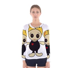 Cute doll girl Women s Long Sleeve Tee
