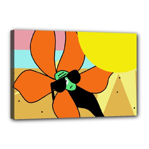 Sunflower on sunbathing Canvas 18  x 12
