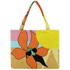 Sunflower on sunbathing Mini Tote Bag