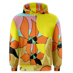 Sunflower on sunbathing Men s Zipper Hoodie