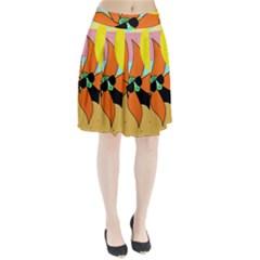 Sunflower On Sunbathing Pleated Skirt