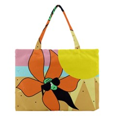 Sunflower on sunbathing Medium Tote Bag