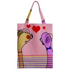 Love Zipper Classic Tote Bag
