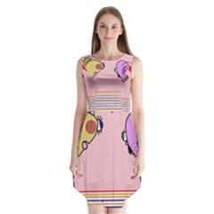 Love Sleeveless Chiffon Dress