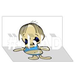 Cute boy #1 DAD 3D Greeting Card (8x4)