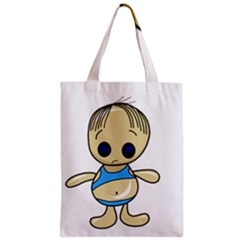 Cute boy Zipper Classic Tote Bag