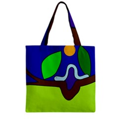 Caterpillar  Zipper Grocery Tote Bag