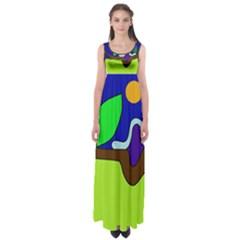 Caterpillar  Empire Waist Maxi Dress