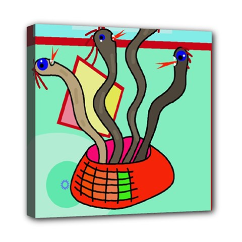Dancing  snakes Mini Canvas 8  x 8