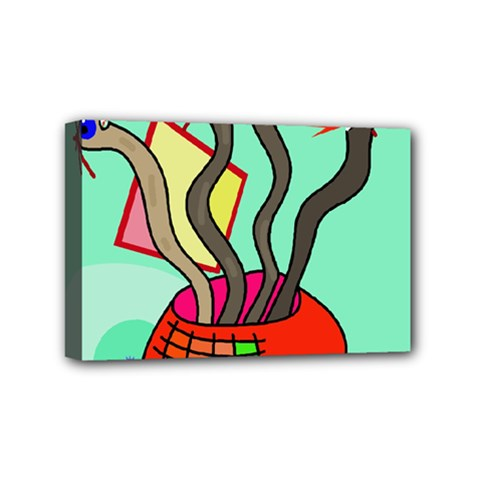 Dancing  snakes Mini Canvas 6  x 4