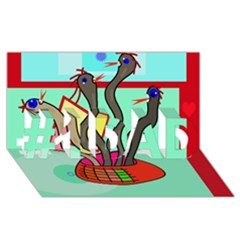 Dancing  snakes #1 DAD 3D Greeting Card (8x4)