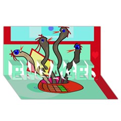 Dancing  snakes ENGAGED 3D Greeting Card (8x4)
