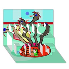 Dancing  snakes You Did It 3D Greeting Card (7x5)