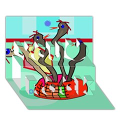 Dancing  snakes You Rock 3D Greeting Card (7x5)
