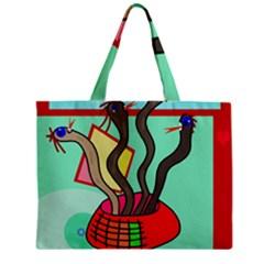Dancing  snakes Zipper Mini Tote Bag
