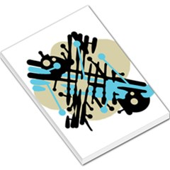 Abstract decor - Blue Large Memo Pads