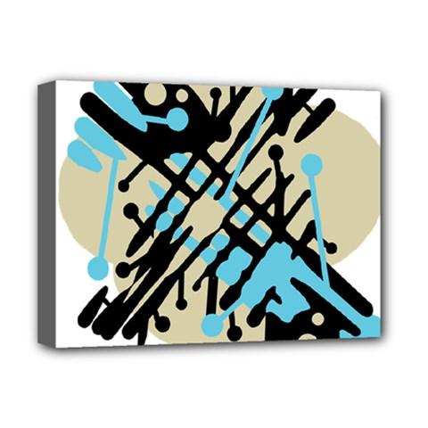 Abstract decor - Blue Deluxe Canvas 16  x 12
